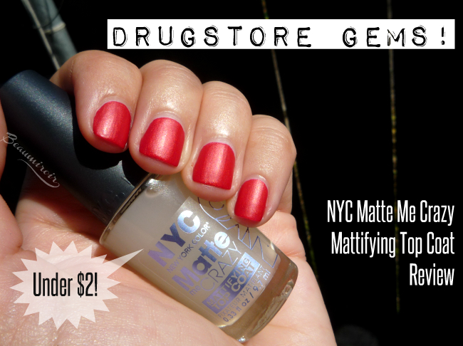 NYC Matte Me Crazy Mattifying Top Coat: review, photos, swatches