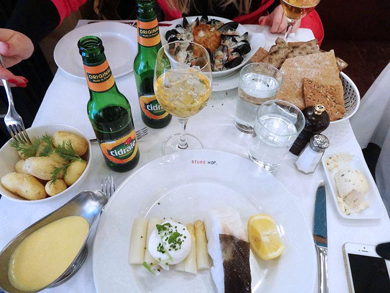Seefood in Sture Hof Stockholm