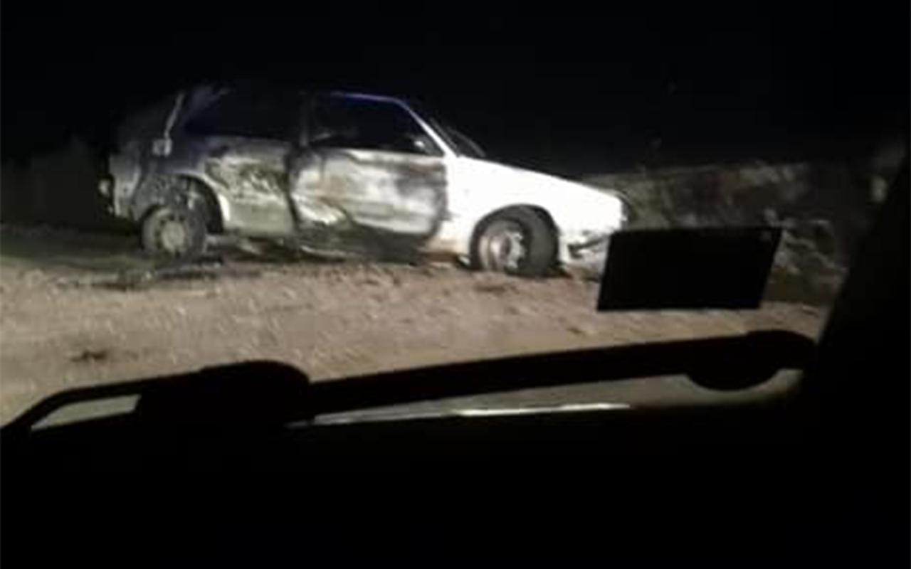 Skrundā nozagtā mašīna atrasta sadegusi Kuldīgas novadā