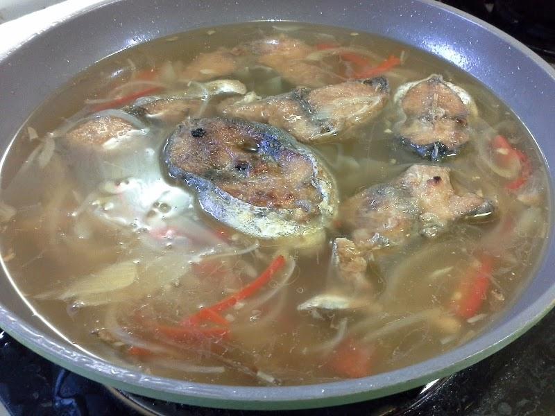 Resepi mudah ikan langkunis masak berkuah
