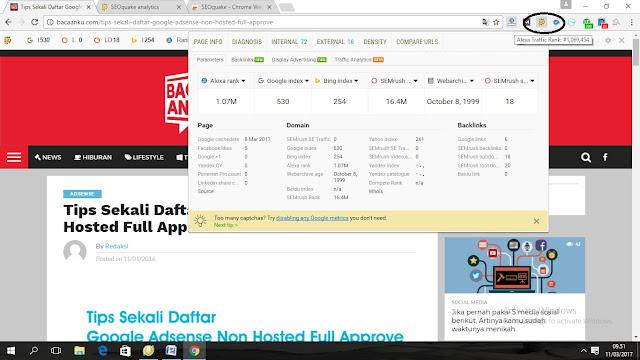 Cara Menginstal Tool SEO Quake Pada Google Chrome dalam 1 Menit