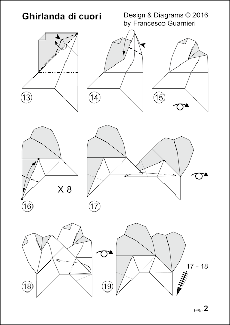 Diagrammi, pag. 2: Ghirlanda di cuori - Garland of hearts © by Francesco Guarnieri