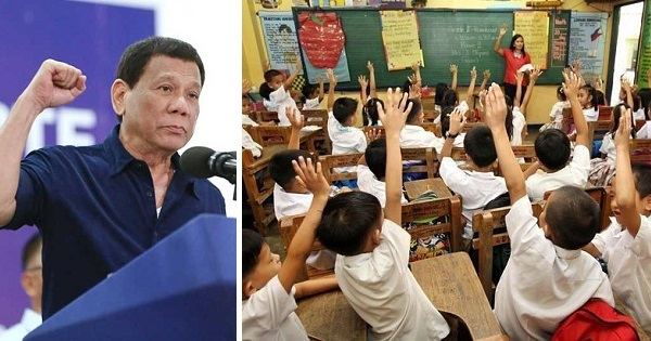 Duterte OKs drug education in K to 12 students next school year