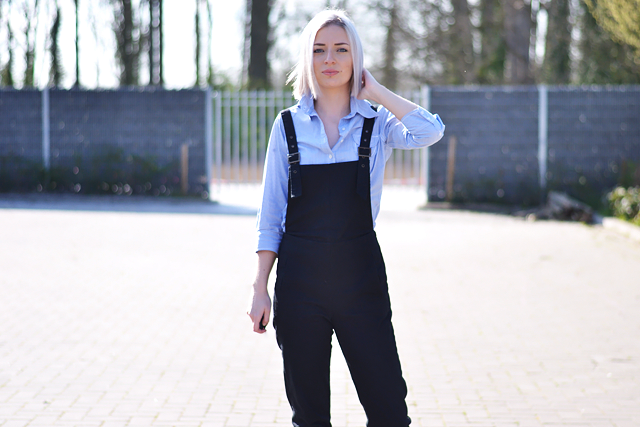 Close up, dungarees, black, asos