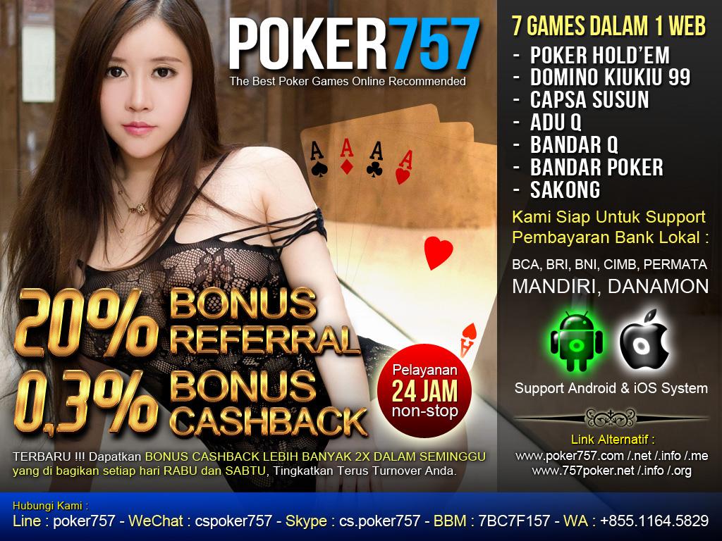 Poker757 - Agen Sakong Online | Capsa Susun | Bandar Poker | Judi Domino99 | BandarQ | AduQ | Poker Texas Indonesia