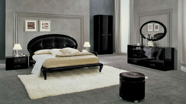 couleur peinture chambre meuble noir. Black Bedroom Furniture Sets. Home Design Ideas