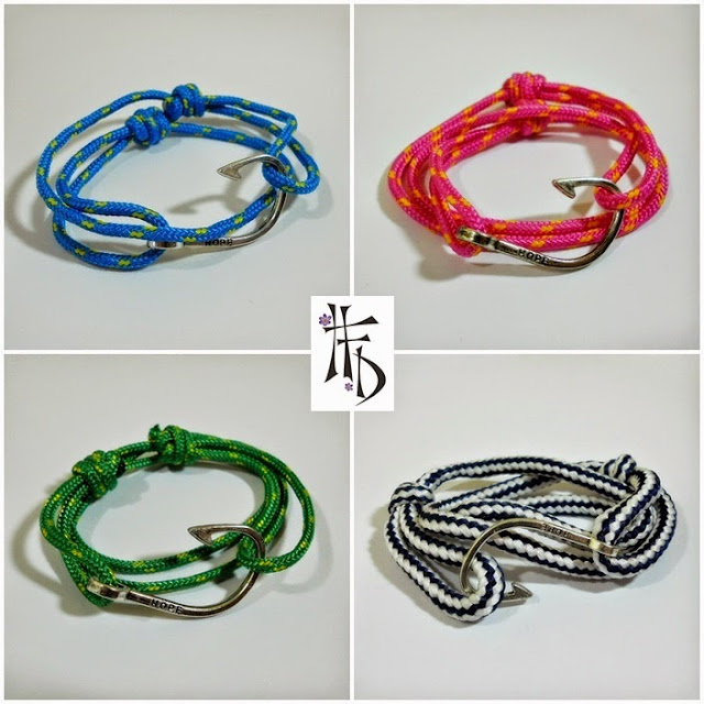 NAVY HOOK. Pulseras para hombre con ancla y anzuelo· Mens bracelets with hook and paracord