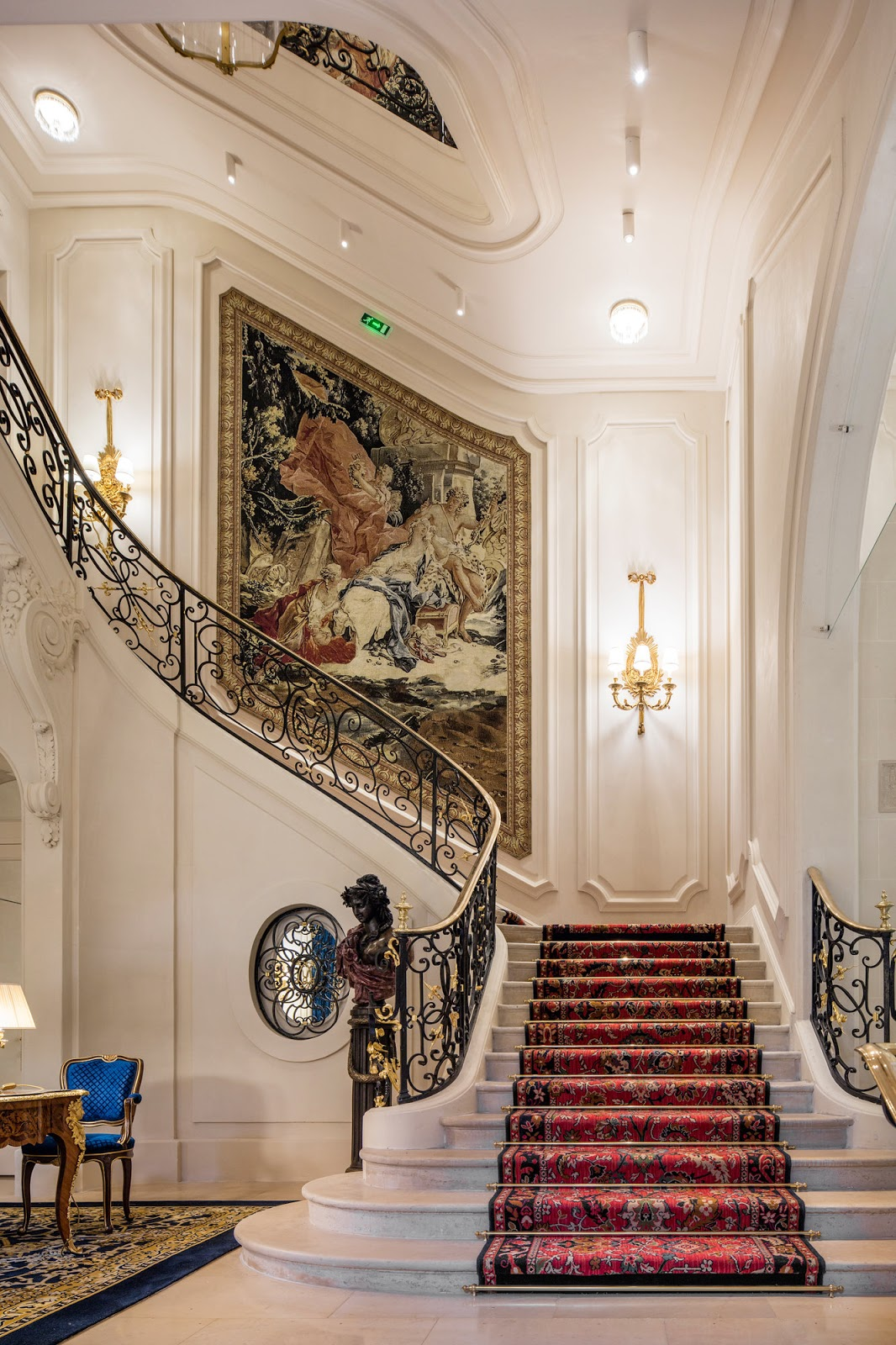 Staircase detail Ritz Paris