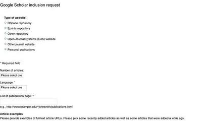 google scholar request