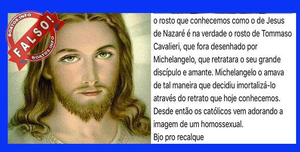 Rosto de jesus é de Tommaso Cavalieri amante de Michelangelo - FALSO