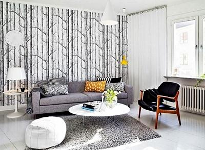 N Contoh Gambar Wallpaper Dinding Ruang Tamu Rumah Minimalis