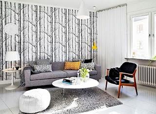 Kumpulan Contoh Gambar Wallpaper Dinding Ruang Tamu Rumah Minimalis
