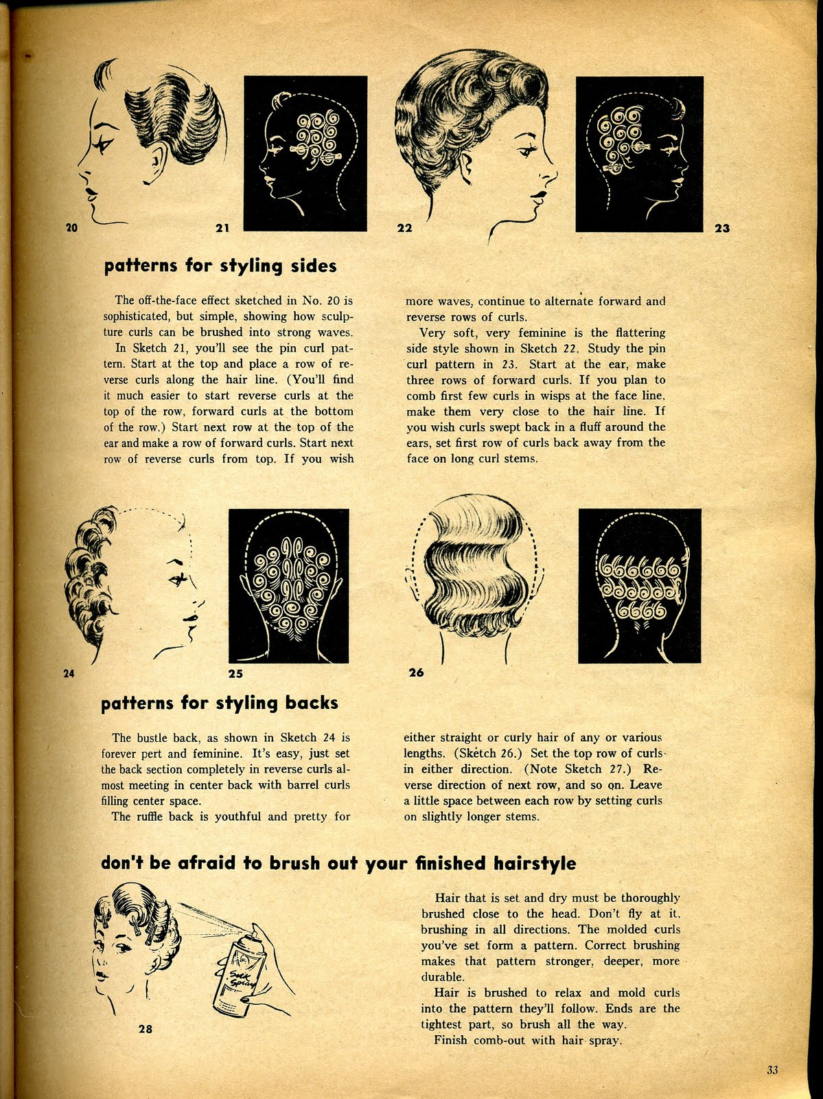 vintage pin curls diagram lennox 51m33 wiring beauty is a thing of the past how to set