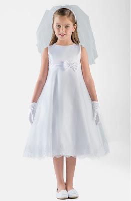 Vestidos de comunion cortos para fiesta de dia