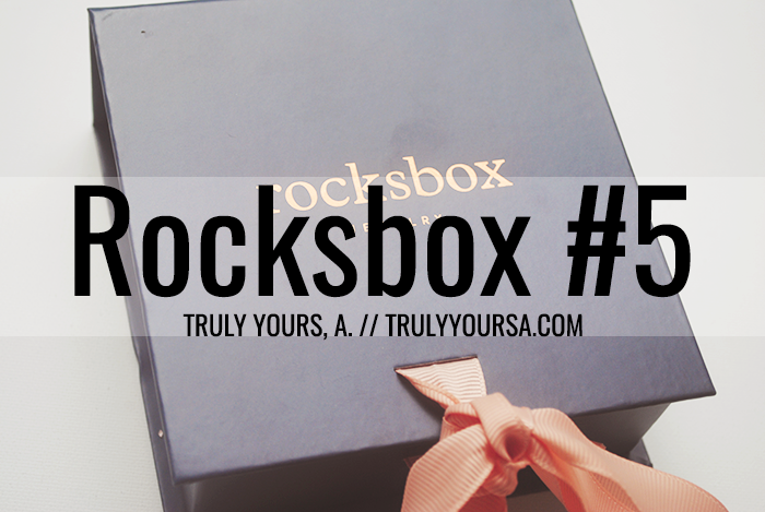 A Rocksbox subscription post featuring jewelry from Kendra Scott, Moon & Lola, and a.v. max.