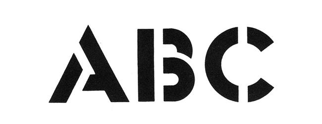 Tipografía creada por Glaser a partir de la Futura, convertida en Stencil.