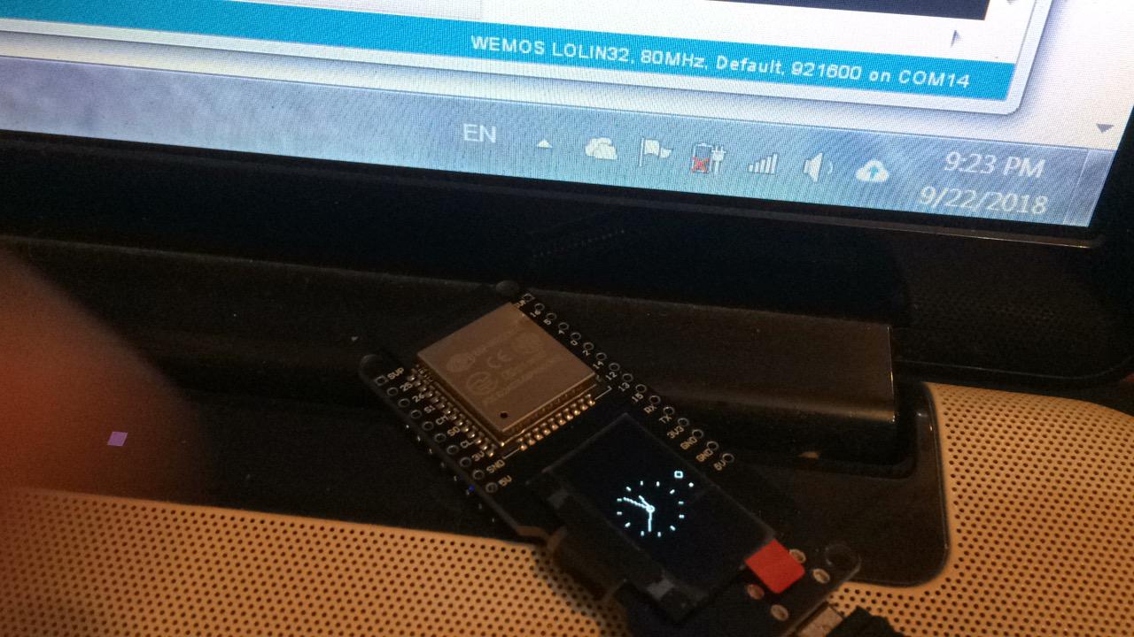 Arduino tehNiq: NTP clock using OLED Wemos Lolin ESP32