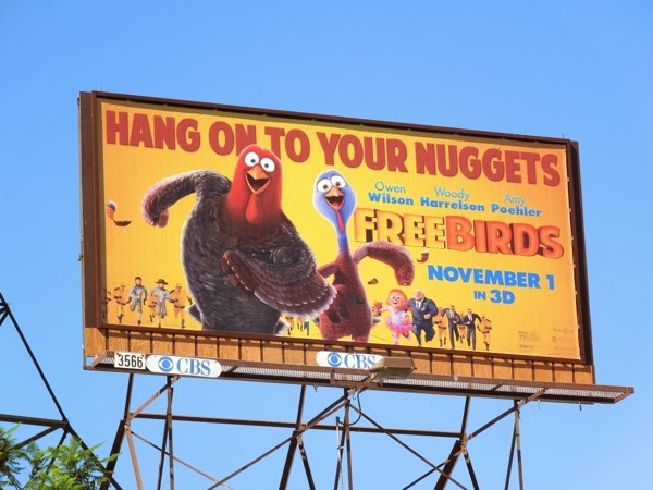 Free Birds movie billboard