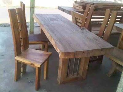 furniture meja makan kayu Trembesi/meh,suar SOLID WOOD DINING TABLE,meja makan kayu utuh TREMBESI,MJ TRMBS 1005,MEJA TREMBESI,FURNITURE KAYU TREMBESI