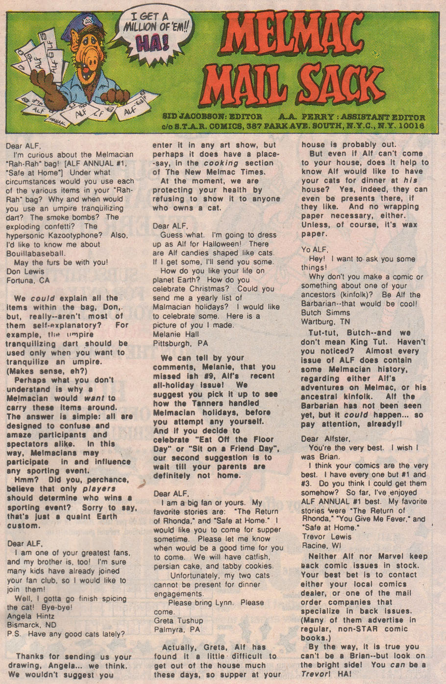 Read online ALF comic -  Issue #13 - 33