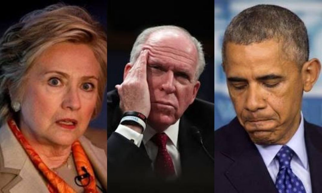 Image result for Obama Hillary Brennan
