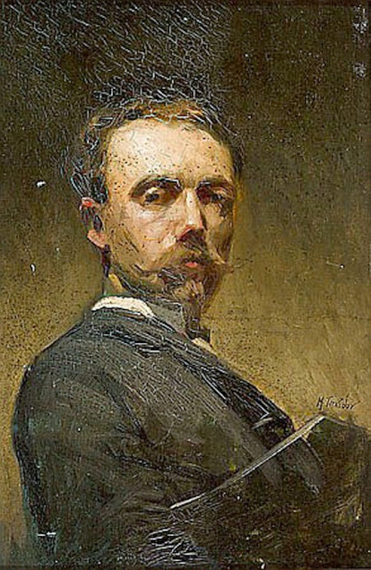 Modest Teixidor, Self Portrait, Portraits of Painters, Fine arts, Portraits of painters blog, Paintings of Modest Teixidor, Painter Modest Teixidor
