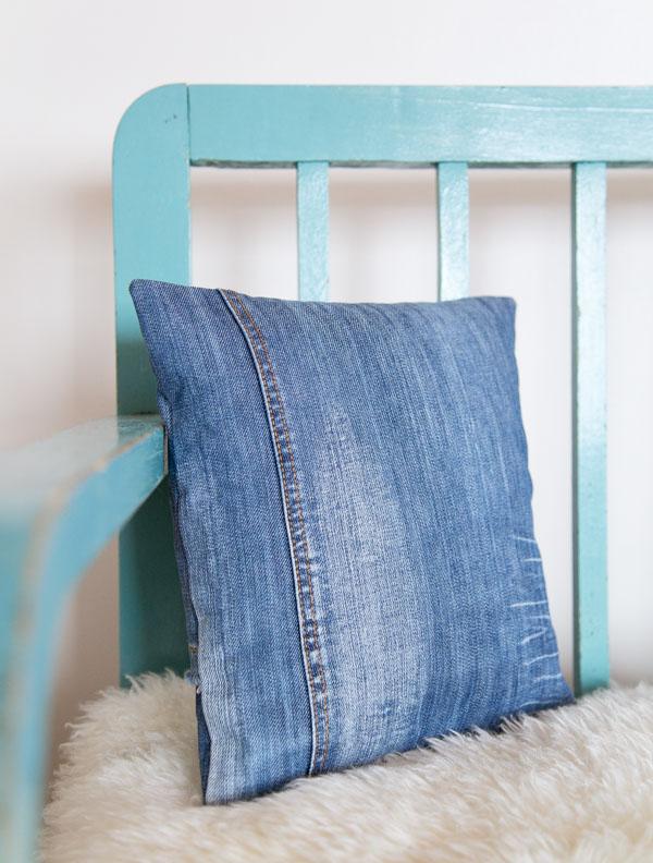 Tyynynpäällinen farkuista
