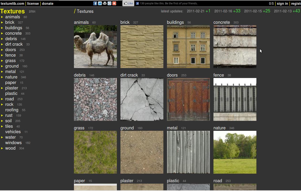 Textures-Materials: Site de textures gratuites