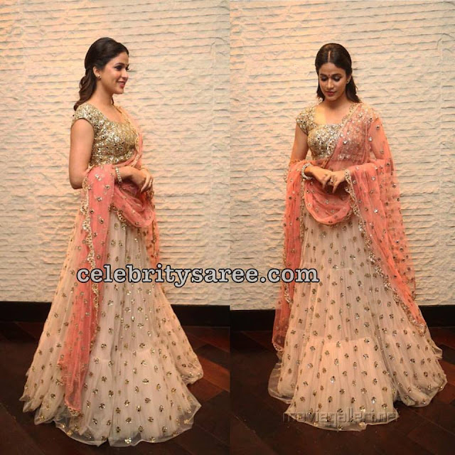 Celebrities in Ashwini Reddy Lehengas2