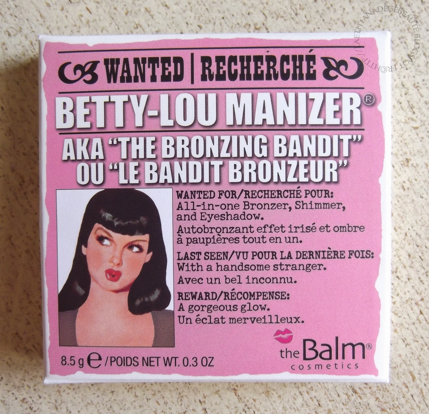 THEBALM COSMETICS  Betty Lou Manizer AKA The Bronzing Bandit.
