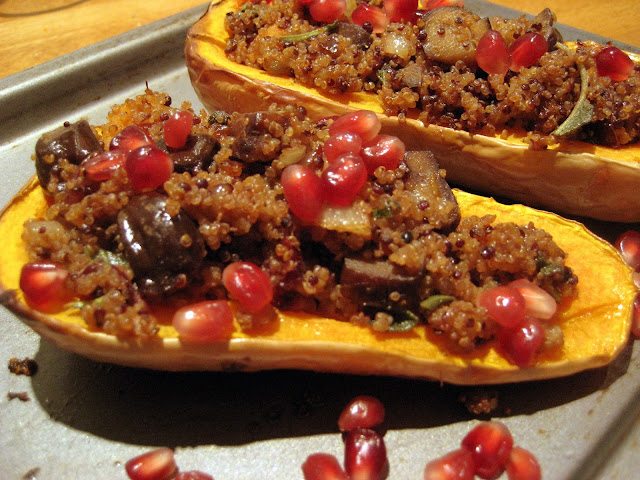 Chestnut & Quinoa Stuffed Butternut Squash