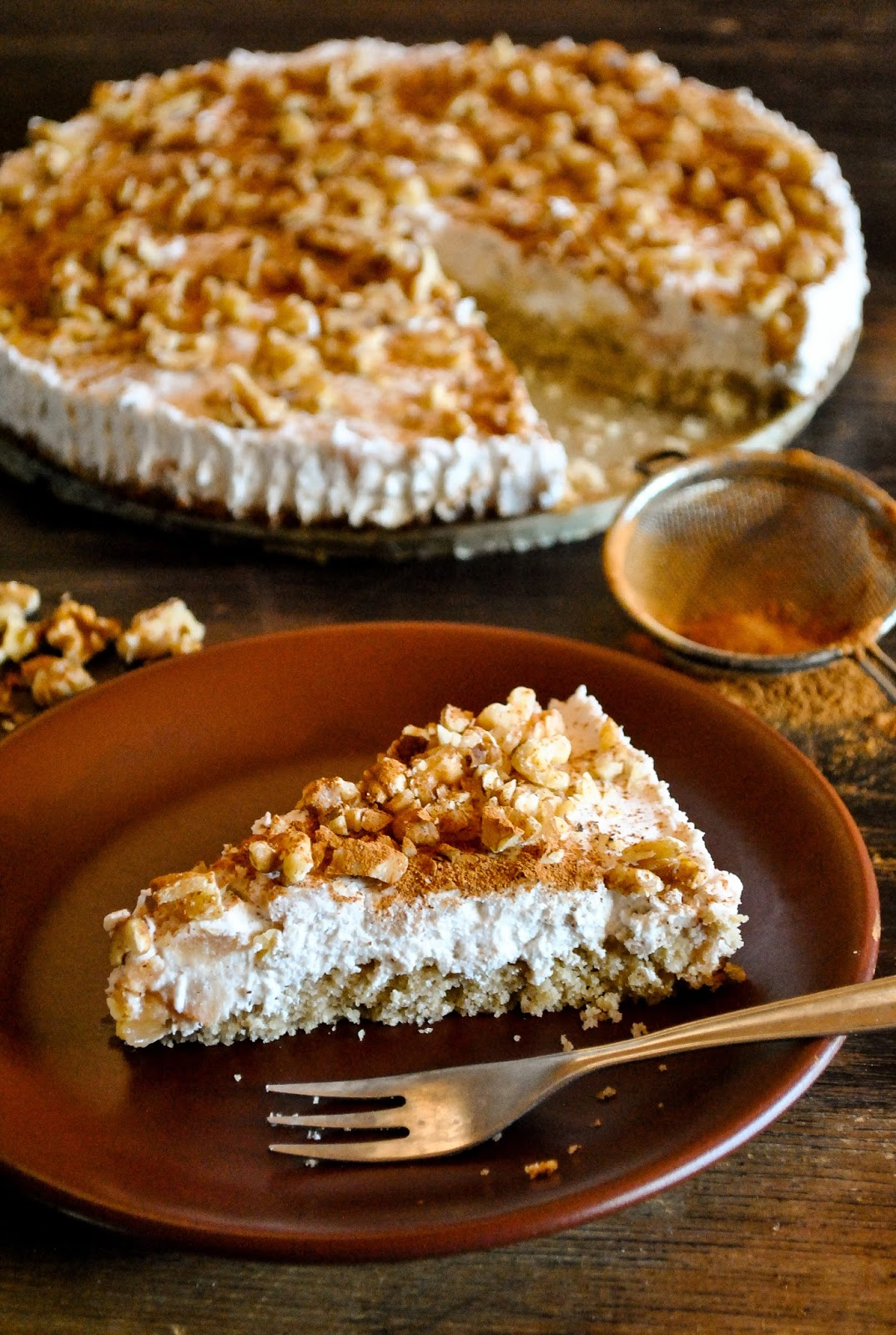 Vegan Gluten Free Cake With Coconut Whip Baked Apples And
