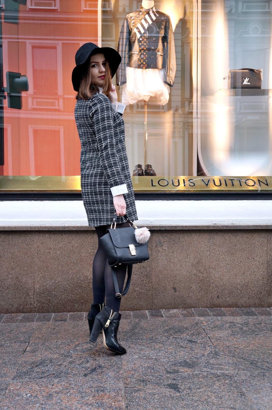 SheIn Collar Dress   Fashion Blogger   Look
