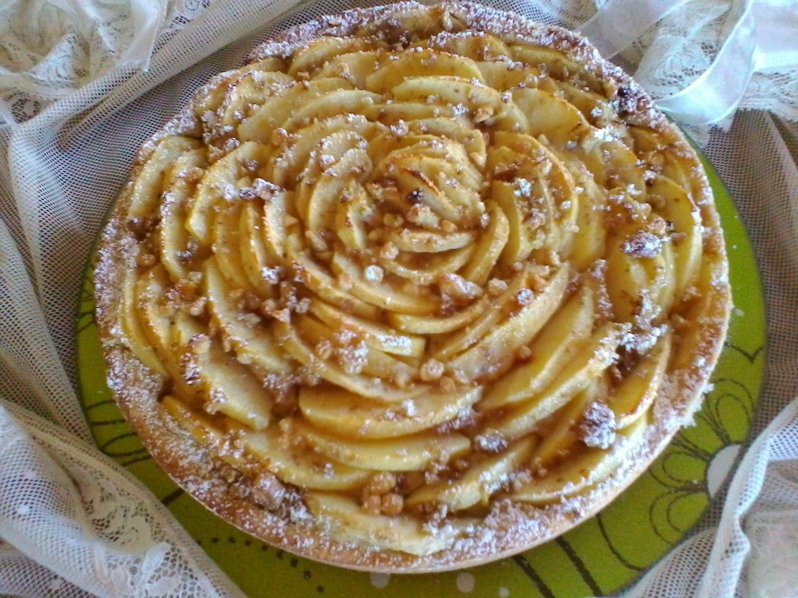 Il mondo di rina crostata di mele con crema pasticcera for Crostata di mele