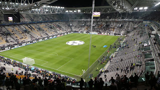 Juventus play their home matches at the Juventus Stadium, which holds 41,000 people, in the Vallette district of Turin