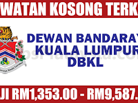 Dewan Bandaraya Kuala Lumpur DBKL - Gaji RM1,353 - RM9,587