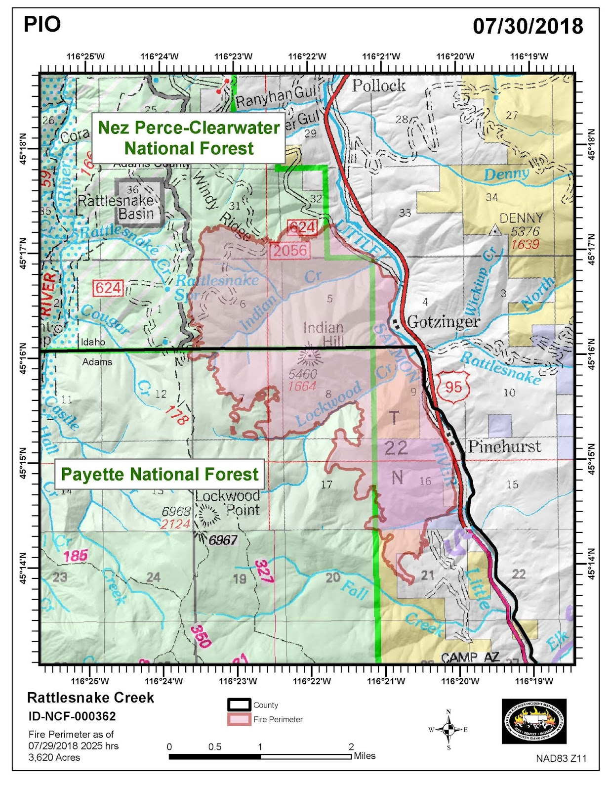 Kamiah Fire Map.Idaho Fire Information July 2018