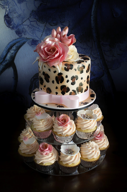 Sandy S Cakes Nat S Leopard Amp Pink Birthday Cake