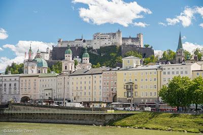 Fortaleza Hohensalzburg vista da cidade, Salzburg, Áustria