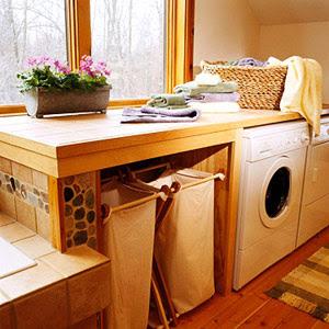 lavanderia com prateleira