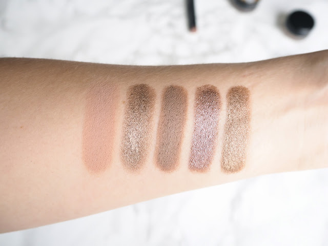 Five Cream Eyeshadows To Try, favourite cream eyeshadows, mac pro longwear paint pot painterly, kiko long lasting stick eyeshadow 05, 05, maybelline color tattoo, leather effect, on and on bronze, creamy beige, review, swatches