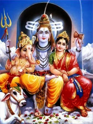Shiva, Parvathi, Ganesh. SRI AGASTHIYA MAHASHIVA VAKKIYA THULLIYA NAADI ASTROLOGICAL CENTRE - Naadi Astrology from Tamil Nadu. Promotional Campaign by Kind Attention.