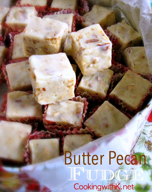Butter Pecan Fudge by Cooking with K - Weekend Potluck 499