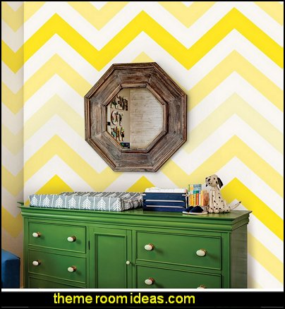 Chevron Yellow Removable Wallpaper Tiles