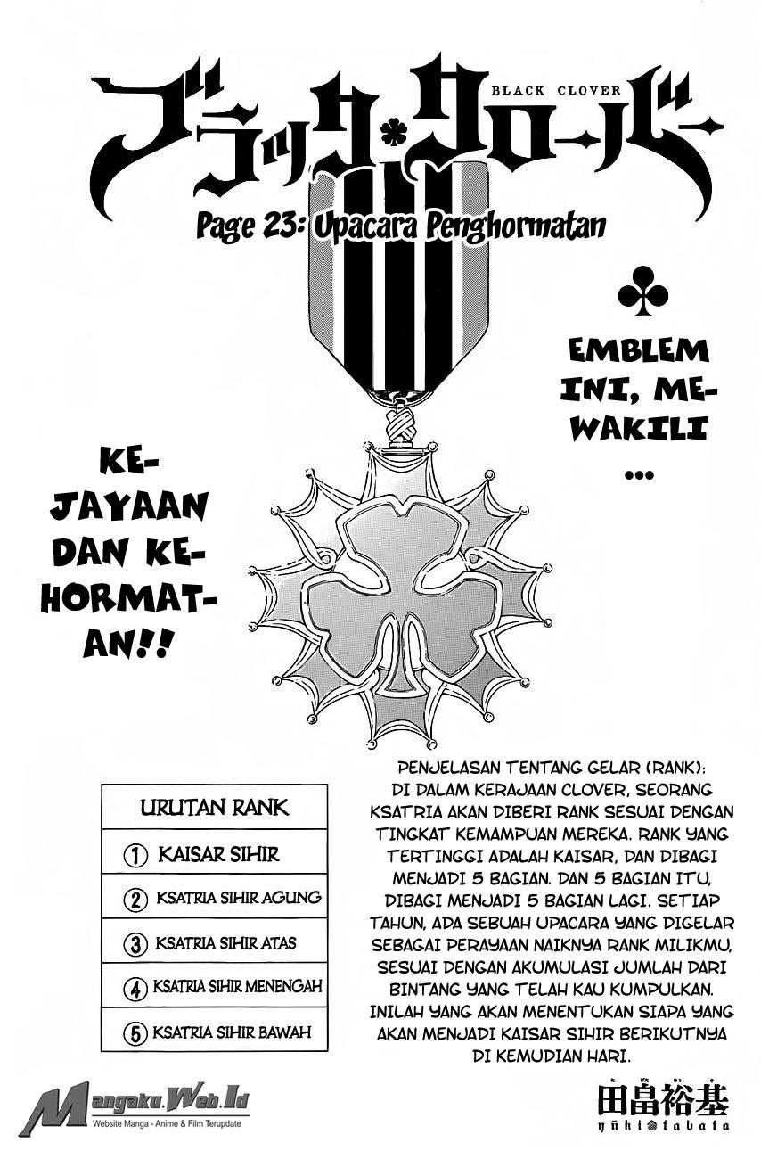 Black Clover Chapter 23 Upacara Penghormatan