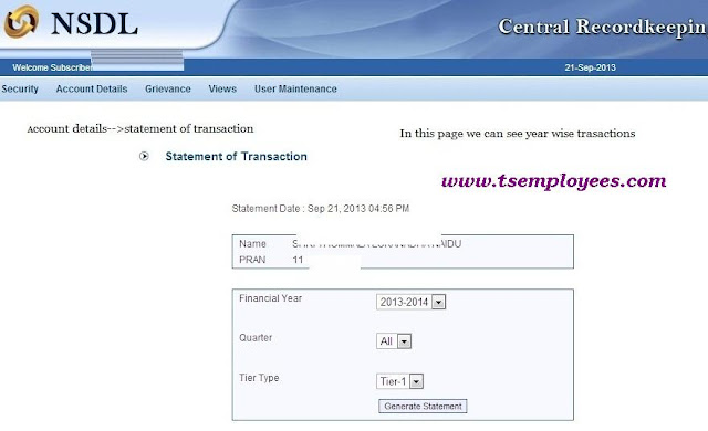 How to Check CPS Account Statement CRA-NSDL Login Steps