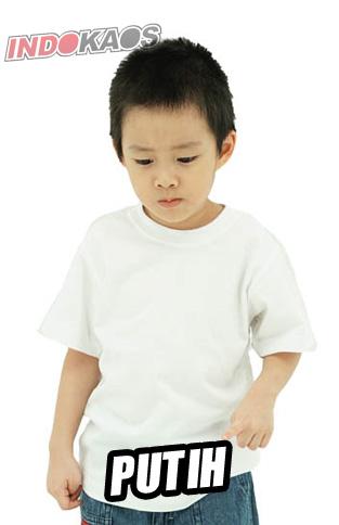 Kaos Polos anak Putih