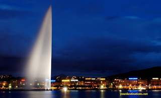 Geneva Jet D'eau Fountain Switzerland