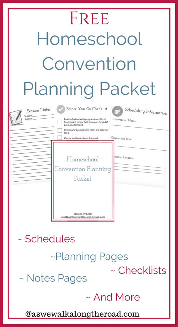 Homeschool Convention Planning Packet