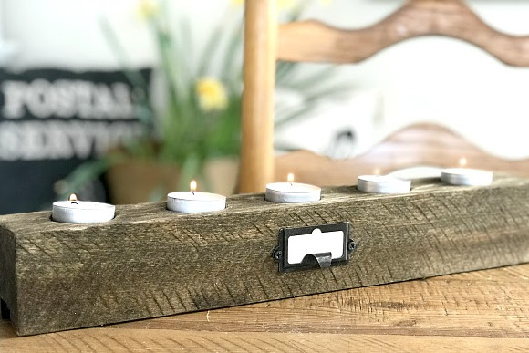 Pallet Wood Tea Light Candle Holder
